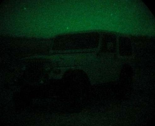 Generation 2 Night Vision, Starlight conditions.
